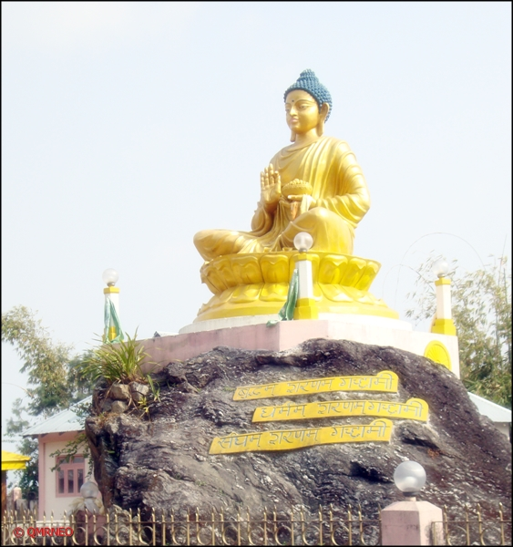 Lord Buddha, Above the Gufa, Kalimpong mntravelog