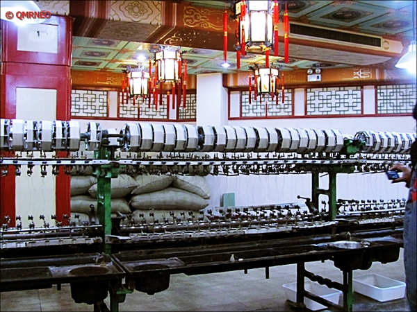 Silk Factory processing Silk Beijing China MN Travelogue