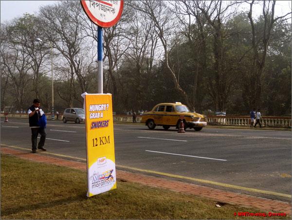 Amity Kolkata Half marathon checkpoint mntravelog
