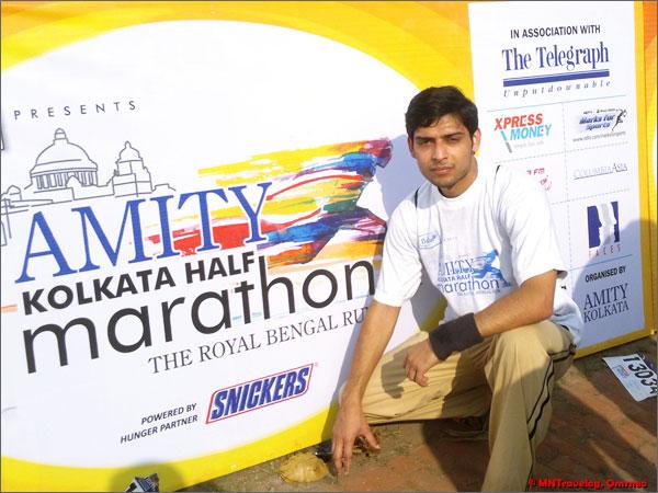 Amity Kolkata Half marathon completed mntravelog