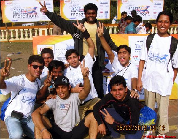 Amity Kolkata Half marathon group mntravelog