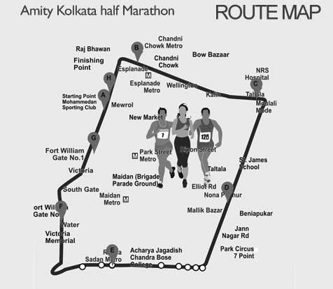 Amity-Kolkata-Half-marathon-route-map-mntravelog