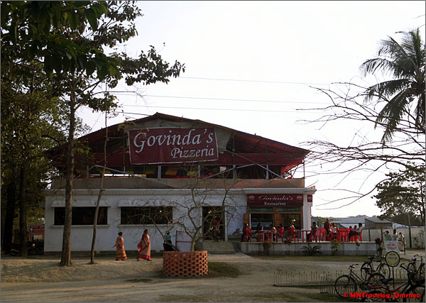 Govindas pizzeria Sri Mayapur Iskcon kolkata mntravelog