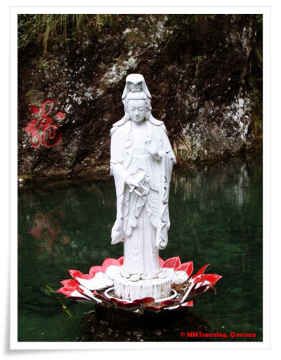 Lady-Budhha-in-Xiao-Long-Pool,-YanDang-Mountain,-China,-MNTravelog