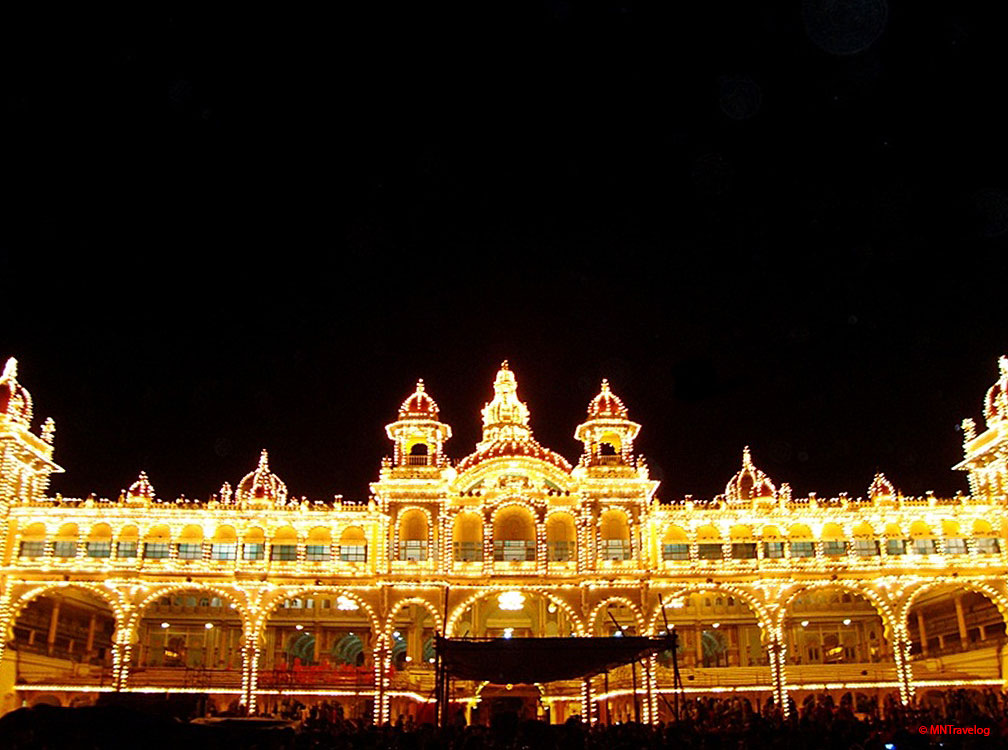 The Palace of Mysore in Night