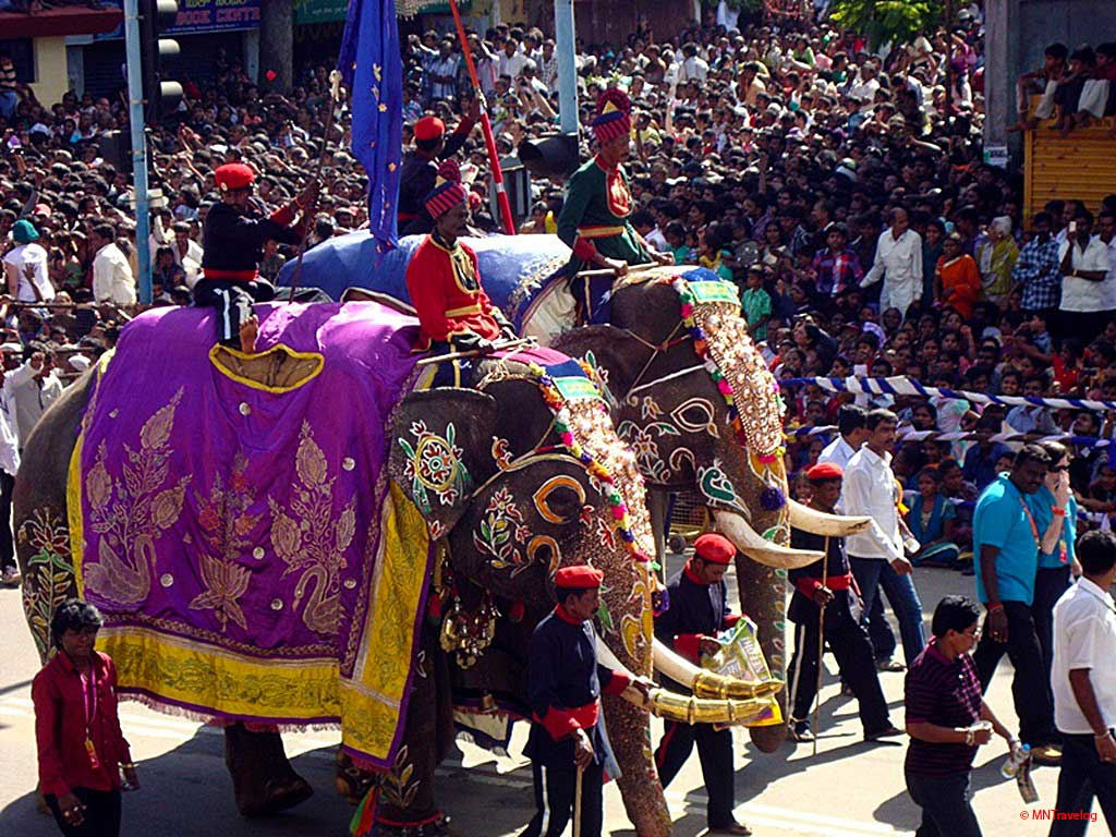 Mysore-Procession-attractions,-Royal-Elephant-March